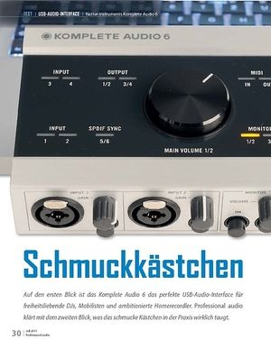 Professional Audio Schmuckkästchen: Native Instruments Komplete Audio 6