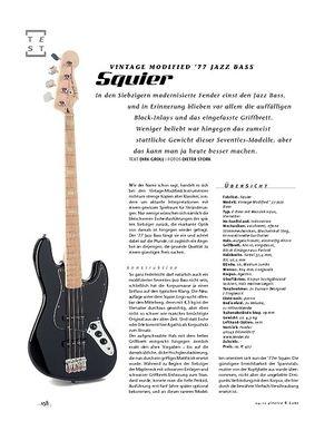 Gitarre & Bass Squier Vintage Modified '77 Jazz Bass