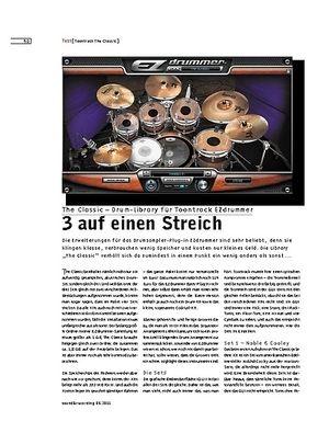 Sound & Recording The Classic – Drum-Library für Toontrack EZdrummer