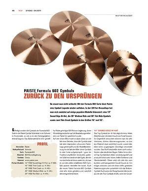 Sticks Paiste Formula 602 Cymbals