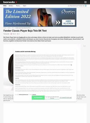 Bonedo.de Fender Classic Player Baja Tele BK