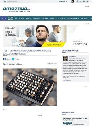 Amazona.de Test: Vermona, PerFourMer MKII, Analog-Synthesizer