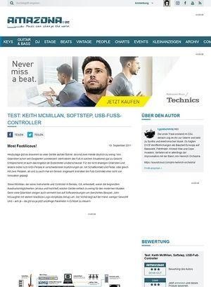 Amazona.de Test: Keith McMillan, Softstep, USB-Fuß-Controller