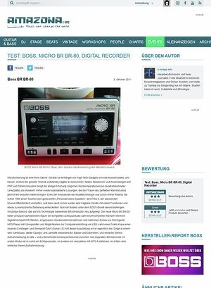 Amazona.de Test: Boss, Micro BR BR-80, Digital Recorder