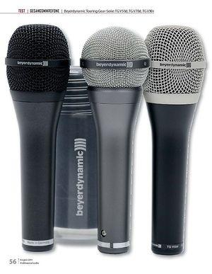 Professional Audio Beyerdynamic Touring Gear-Serie: TG V50d, TG V70d, TG V90r