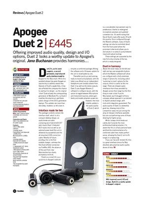 Future Music Apogee Duet 2