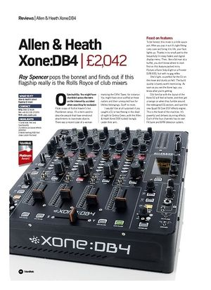 Future Music Allen and Heath Xone:DB4
