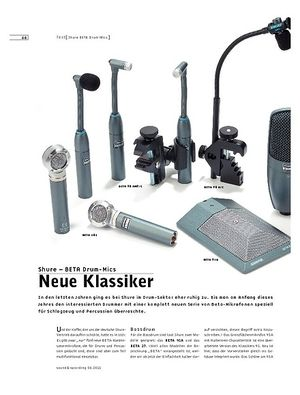 Sound & Recording Shure BETA Drum-Mics – Drum/Percussion-Mikrofone