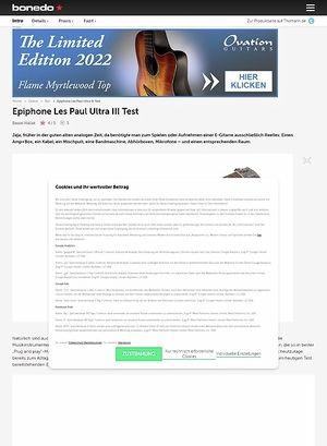 Bonedo.de Epiphone Les Paul Ultra III