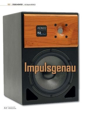 Professional Audio TEST  STUDIO-MONITOR  KS Digital ADM22