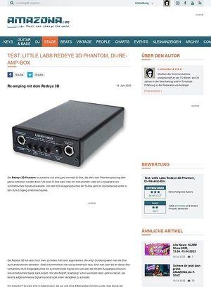 Amazona.de Test: Little Labs, Redeye 3D Phantom, Di-/Re-amp-Box
