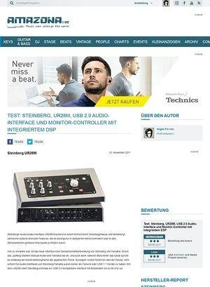 Amazona.de Test: Steinberg, UR28M, USB 2.0 Audio-Interface und Monitor-Controller mit integriertem DSP