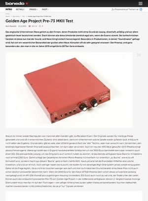 Bonedo.de Golden Age Project Pre-73 MKII