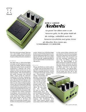 Gitarre & Bass Nobels ODR-1 Green, Overdrive-Pedal
