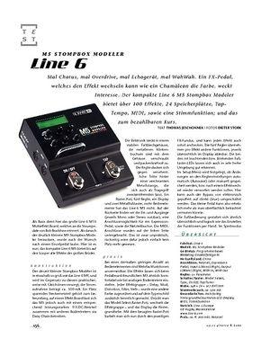 Gitarre & Bass Line 6 M5 Stompbox Modeler, Effekt-Pedal