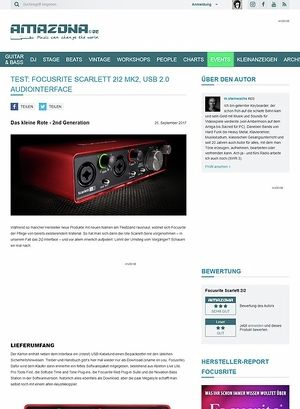 Amazona.de Focusrite Scarlett 2i2 2nd Generation