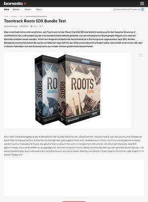 Bonedo.de Toontrack Roots SDX Bundle