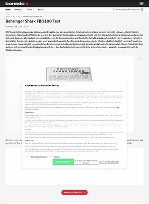 Bonedo.de Behringer Shark FBQ100