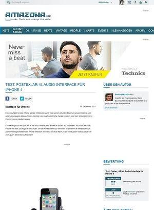 Amazona.de Test: Fostex, AR-4i, Audio-Interface für iPhone 4