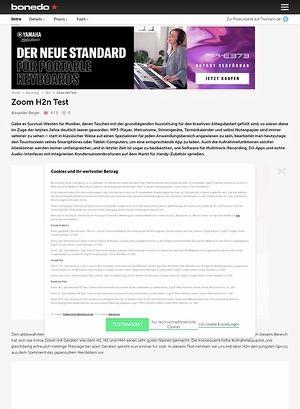 Bonedo.de Zoom H2n