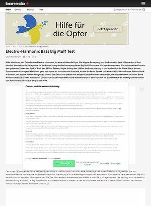 Bonedo.de Electro-Harmonix Bass Big Muff