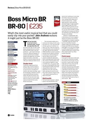 Future Music Boss Micro BR BR-80