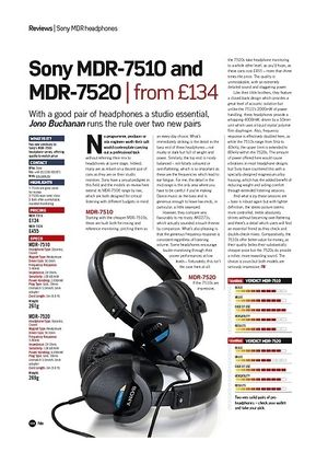 Future Music Sony MDR-7510