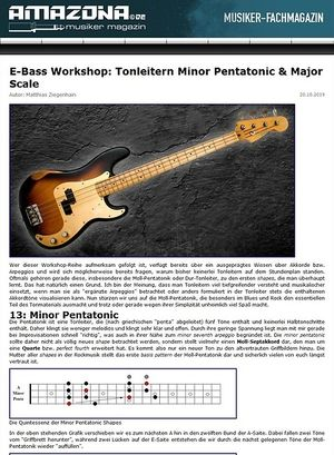Amazona.de Workshop: Fretboard Harmony for Bass Guitar IV