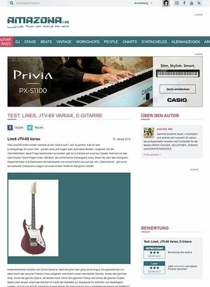 Amazona.de Test: Line6, JTV-69 Variax, E-Gitarre