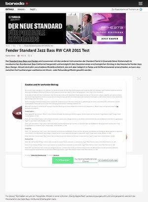 Bonedo.de Fender Standard Jazz Bass RW CAR 2011