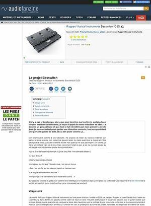 Audiofanzine.com Ruppert Musical Instruments Basswitch IQ DI