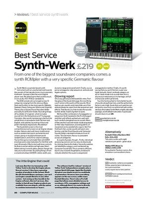 Computer Music Best Service Synth-Werk