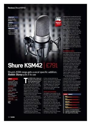 Future Music Shure KSM42