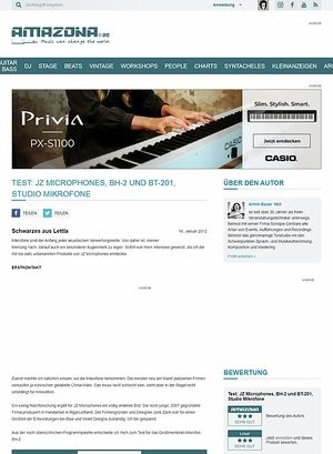 Amazona.de Test: JZ Microphones, BH-2 und BT-201, Studio Mikrofone