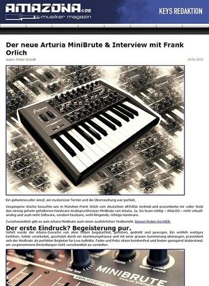 Amazona.de Preview: Arturia MiniBrute, Analog-Synthesizer