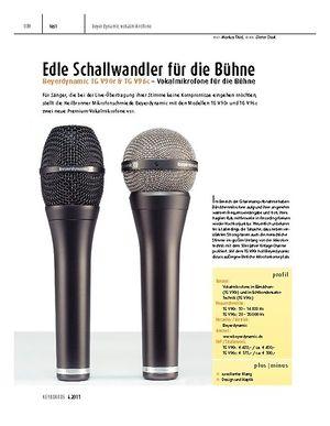 Keyboards Beyerdynamic TG V90r & TG V96c – Vokalmikrofone für die Bühne