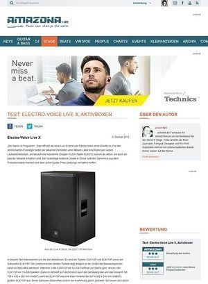 Amazona.de Test: Electro-Voice, Live X, Aktivboxen