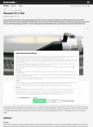 Bonedo.de Numark CS-1
