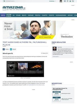 Amazona.de Test: Audio Ease, Altiverb 7 und Altiverb 7 XL, Faltungshall Plug-in