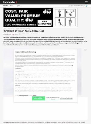 "Bonedo.de Kirchhoff 14""x6,5"" Arctic Snare"