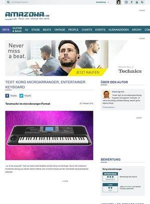 Amazona.de Test: Korg, micro Arranger, Entertainer Keyboard