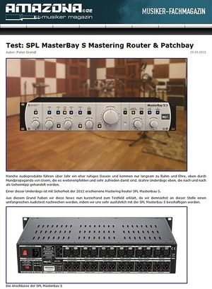 Amazona.de Top News: SPL Analog Elemental Series, MasterBay S - The S-Class Patchbay