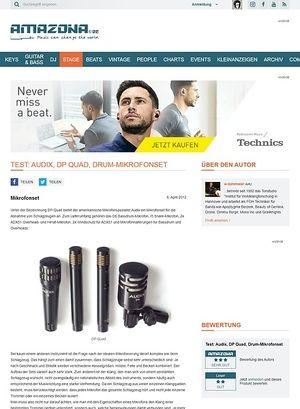 Amazona.de Test: Audix, DP Quad, Drum-Mikrofonset