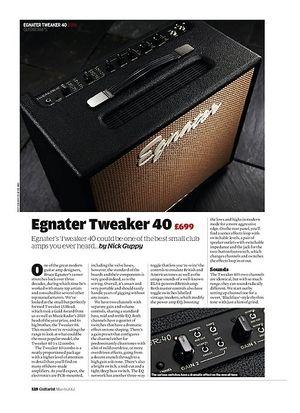 Guitarist Egnater Tweaker 40