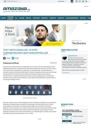 Amazona.de Test: Keith McMillan, 12-Step, Chromatischer USB-Fußcontroller
