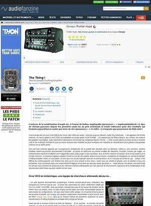 Audiofanzine.com Kemper Profiling Amplifier