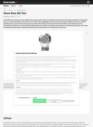 Bonedo.de Shure Beta 181