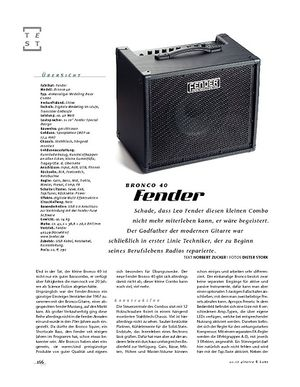 Gitarre & Bass Fender Bronco 40, Bass-Combo