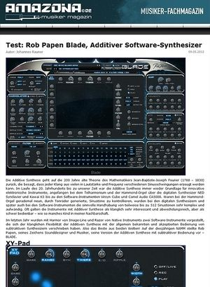 Amazona.de Test: Rob Papen, Blade, Additiver Synthesizer