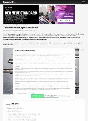 Bonedo.de Testmarathon Keyboardständer